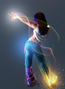 Tancující dívka