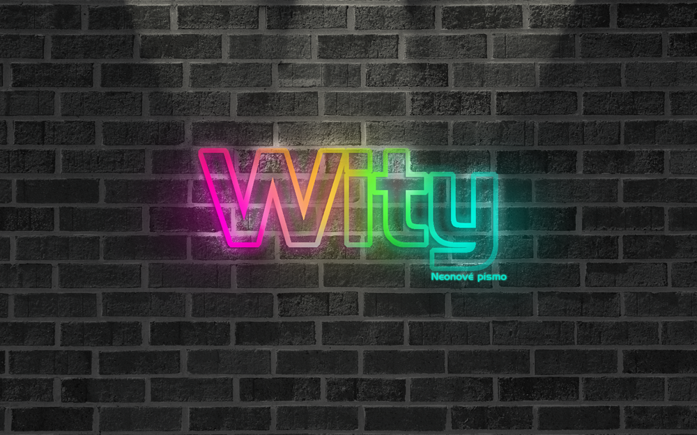 photoshop neon font_wity